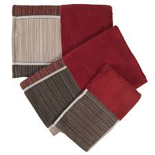 modern kitchen towels modern line burgundy bath collection 3 pc towel set bath