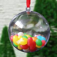 30pcs 5mm plastic ball diy christmas tree hanging bauble
