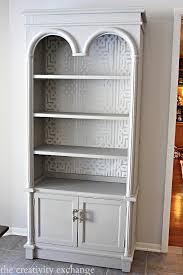 Silver Bookshelf Painting Bookcase White Thesecretconsul Com