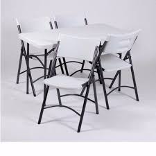 Lifetime Folding Chairs Cool Lifetime Table And Chairs With Lifetime 4ft Commercial