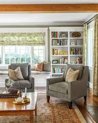 livingroom bench kate spade living room traditional with white bookcase living room