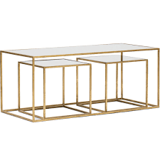 Gold Table L Coffee Table Herione Metallic Gold Coffee Tablegold Glass Table