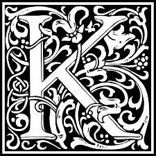 clipart william morris letter k