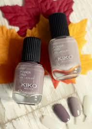 kiko power pro nail lacquer 29 grigio rosato 30 taupe unghie