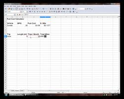 Mileage Spreadsheet How To Make A Fuel Cost Calculator Excel Openoffice Calc Youtube