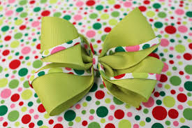 custom hair bows custom hair bows christmas green and spaghetti piping 1