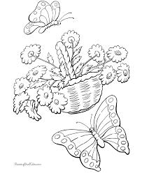 springtime coloring pages kids coloring