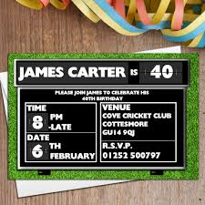 Personalised Birthday Invitation Cards 10 Personalised Cricket Score Board Birthday Party Invitations N110