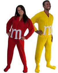 m m costume diy m m couples costume idea using footed pajamas