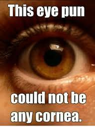 Squinty Eyes Meme - this eye pun could not be any cornea eye meme on me me