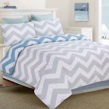 apartmento ottavio blue white grey chevron king size bed doona
