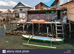 coastal houses of wuring fishing village near maumere on flores