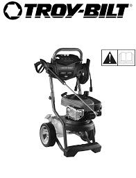 troy bilt pressure washer 2700 psi pressure washer pdf user u0027s