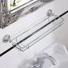 Chrome Bathroom Shelves by Milano Ambience Glass Gallery Bathroom Shelf With Chrome Finish