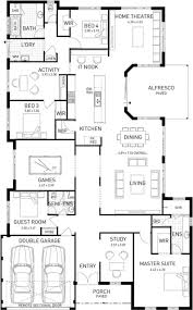 Double Master Bedroom Floor Plans Wa Home Designs In Cute 5 Bedroom Floor Plan Bedrooms Single Story