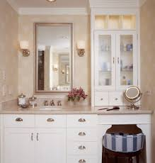 bathroom upper cabinets with traditional blue stripe bathroom