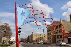 Chicago Flags Paseo Boricua Gateway Flag Through The Lens