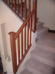 Oak Stair Banister Mission Stair Rail Wood Stairs Stair Railings Stair Rails Wooden