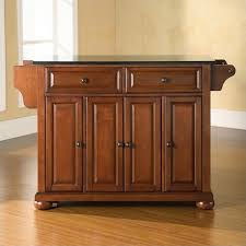 crosley furniture kitchen island crosley furniture alexandria black granite top kitchen island in