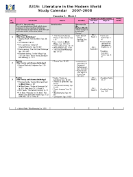 a319 study calendar 2007 2008 semester 1 mr jehad 65549105 t s