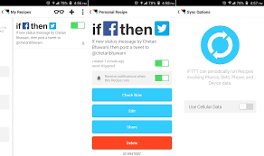 ifttt android ifttt android app automates tasks and connects apps channels as