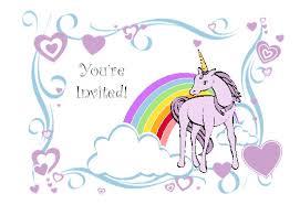 birthday invite template unicorn birthday party invitation template