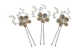 hair pins may blossom hairpins pearl flower and swarovski hairpin