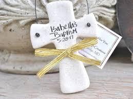 baptism ornament favors personalized cross baptism favor personalized salt dough ornament