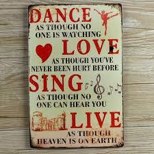 aliexpress com buy retro metal wall art tin sign dance love sing