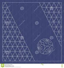 japanese ornament japanese ornament card text frame sashiko stock vector image