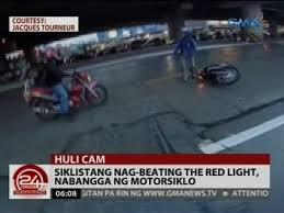 beating the red light siklistang nag beating the red light nabangga ng motorsiklo video