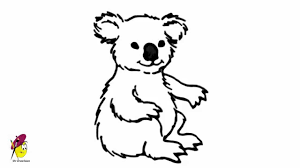 simple koala bear drawing