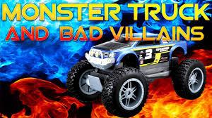 power wheels bigfoot monster truck monster truck and bad villains youtube