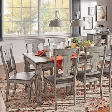 two tone dining table set eleanor grey two tone wood butterfly leaf extending dining set by