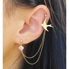 earring that connects to cartilage chain earrings that connect from piercing to piercing 10