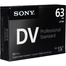 dv cassette sony mini dv professional standard digital dvm63ps us b h