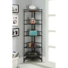 furniture l shaped bookcase three shelf bookcase lean to ladder