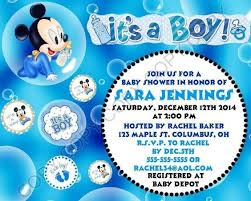 baby mickey mouse baby shower mickey mouse baby shower invitations for boys party xyz