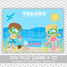 underwater divers personalized party invitation