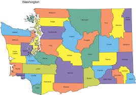 map of wa state washington map with counties