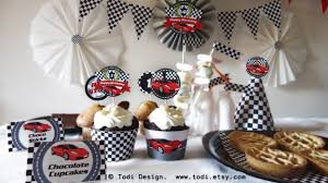 todi race car themed birthday party printables