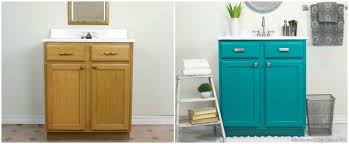 How To Paint A Bathroom Cabinet by Decoart Blog Trends Cabinet Painting With Satin Enamels