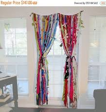 Boho Window Curtains Window Curtains Boho Curtains Rag Curtains Backdrop Home