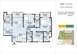 floorplan l u0026 t raintree boulevard bangalore