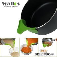 entonnoir cuisine walfos silicone soupe entonnoir cuisine gadget anti déversement