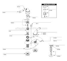 replacement parts for moen kitchen faucet moen 4551 parts list and diagram ereplacementparts com