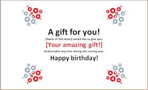 printable u0026 editable ms word birthday gift certificate word