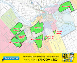 Map Of Ottawa Apartment Flyer Special Theprintguy Ca