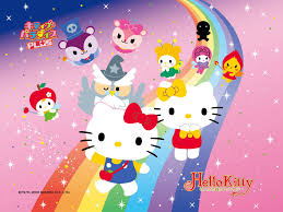 hello kitty fairy pink hello kitty fairy fale wall paper wall murals wall decals