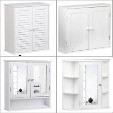 Wall Cabinet Bathroom White Wooden Bathroom Cabinet Ebay